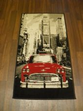 X NEW X Approx 4x2 60cmx110cm Novelty range New Design rugs American Car Red